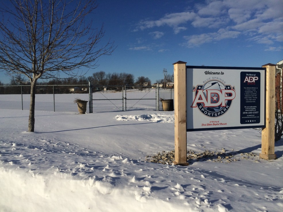 The fields of ADP SportsPark resting during the winter