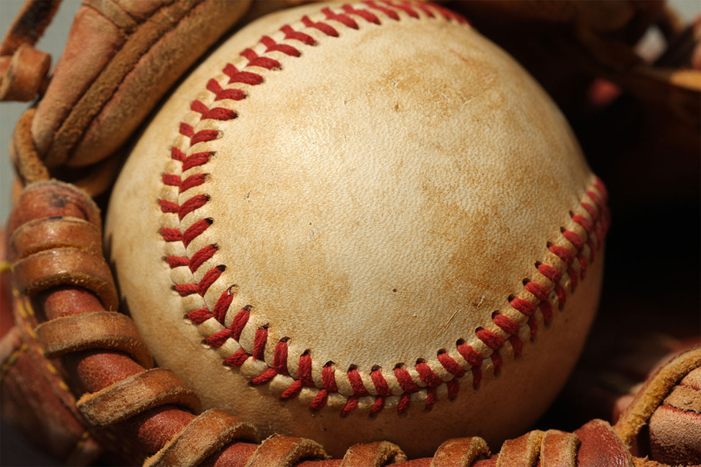 Picture of baseball in glove